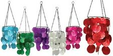 Hanging Capiz Tealight Candle Holder / Wind Chime 6 Colours New Home Decor