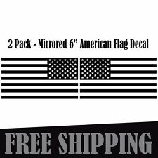 2 Pack - Subdued American Flag Decal - Tactical Flag - Mirrored Vinyl Decal Set