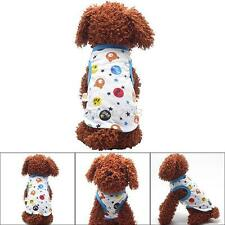 Cute Sweet Puppy Dog Pet Summer Cartoon Printed Clothes Cotton Soft Vest Apparel