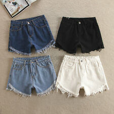 Vintage Womens Denim High Waisted Washed Shorts Jeans Hot Pants