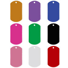 20pcs Military Engraved Dog ID Tags Custom Double Sides Name Cat Tags Pendants
