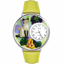 Siamese Cat Charm Watch w/ Personalized Miniature Gifts