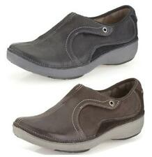 WAVE ROUTE- LADIES CLARKS BLACK,BROWN LEATHER COMFY WALKING / SPORTS SHOES FIT D