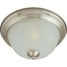 Maxim 5830FTSN Essentials 1-Light Flush Mount Light Fixture Satin Nickel