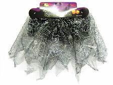 HAUNTED HOUSE FANCY DRESS HALLOWEEN GIRLS SPIDER WEB TUTU 970001 - SMALL