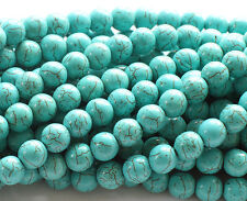 TURQUOISE HOWLITE STONE BEADS BLUE,GREEN OR WHITE //4MM, 6MM, 8MM,10MM!!!