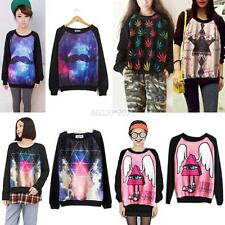 Women 3D T-shirt Sweaters Sweatshirt Blouse Tops Tracksuit Jumpers Pullover NEW
