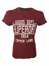 SALE £18 // Mens Size Large Superdry Copper Label Magna T-Shirt Red Neck Grindle