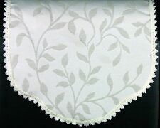 Traditional Armchair Backs and Arm Caps with a Lace Trim