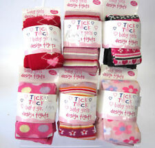 INFANT GIRLS TICK TOCK TIGHTS VARIOUS PATTERN / COLOURS SIZES FROM 0-24 MONTHS