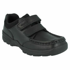 ZAYDEN GO BOYS CLARKS LEATHER RIPTAPE MACCASIN CLASSIC BACK TO SCHOOL SHOES