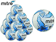 20x NEW 2017 MITRE IMPEL WHITE/BLUE TRAINING FOOTBALL SIZE 3,4,5 (32 PANEL BALL)