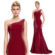 One Shoulder Long Mermaid Dress Formal Prom Evening Gown Bridesmaids 6 8 10 14++