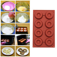8 /18 Cavity Donut Doughnut Baking Mold Cake Chocolate Candy Soap Silicone Mould