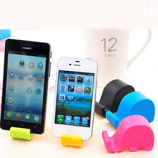 1PC Nice Small Mini Elephant Mobile Cell Phone Tablet Fixed Holder Mount Stand
