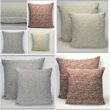 Large or Small Traditional Striped Chenille Cushion Covers with a Hint of Gold