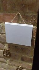 18 x 15cm Lovely White Wooden Blank Hanging Signs Plaques Shabby Chic Rustic