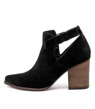 New I Love Billy Kira Black Suede Women Shoes Casuals Boots Ankle Boots
