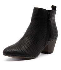 New EOS Cisar Black Women Shoes Casuals Boots Ankle Boots