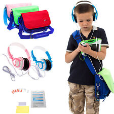 Kids Messenger Bag, Headphones + Screen Protectors Bundle for vTech Innotab Max