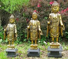 Buddha Statue Wood Carved Hand Wooden Buddhism Sculpture Figure Carving Figurine