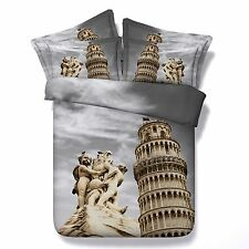 3D Bedding Quilt Doona Duvet Cover Bed Sheet Pillowcase Set Queen -Italy Classic