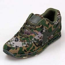 Womens Mens Army Breathable Lace Up Trainer Camouflage Casual Shoes Plus Size