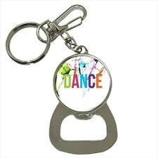 Dance Bottle Opener Keychain and Beer Drink Coaster Set
