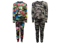 New Girls Kids Children Multi Camoflauge Tracksuit Set Joggers  Age 4 -13 Years