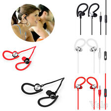 3.5mm Sports Run Gym In-Ear Stereo Hook Earphone Mic Headset For Cell Phone Lot
