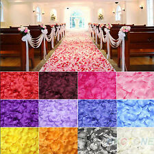 200/1000pcs Various Colors Silk Flower Rose Petals Wedding Party Decoration FOUS