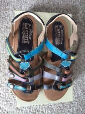 SPRING STEP L'ARTISTE LADIES SHOES GIPSY BLACK/MULTI LEATHER SANDALS NEW W/BOX