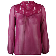 Heart & Soul Ladies Purple Mars Long Sleeved Shirt with Lace