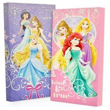 2 Disney Princess CANVAS WALL ART Glow in the Dark Picture Bed Bedding Room Set