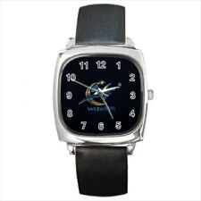 Washington Wizards Round & Square Leather Strap Watch - Basketball NBA