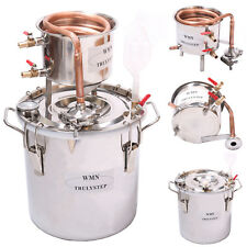 DIY Home Distiller Moonshine Still Spirits COPPER Cooler Water Alcohol Oil Brew