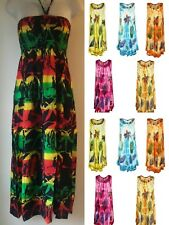 """Womens Ladies New Summer Floral Celebrity Tunic Swing Dress Top 36"""" Lenght"""