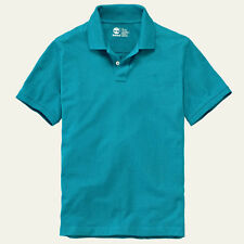 Timberland Men's Short Sleeve Millers River Pique Teal Polo Shirt Style #8743J