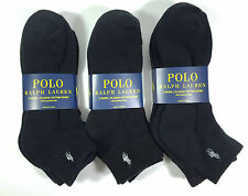 Polo Men 3 pairs pack classic cotton sport half cushioned sole quarter socks