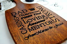 Personalised Fathers Day Gift Dad Present Cutting Board Farthers Personalized
