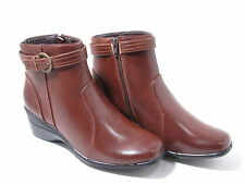 Ladies Trueform TLB882 Brown Ankle Boots with Zip Sizes UK 4 & 6