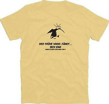 T-Shirt Early Bird Catches Himself One If He Does Not Keep His Mouth S-xxxl New