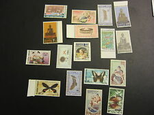 Thailand Stamps Lot 1986 New Unused 80's