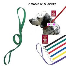 """1-DOG NYLON Grooming Quick Fit Adjustable KENNEL LEADS No SLIP LEAD LEASH 1""""x6ft"""