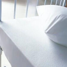 Anti-Dustmite Terry Towelling Waterproof Fitted Mattress Protector - All UK Size