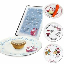Personalised Father Christmas Santa Mince Pie Plate & Letter Xmas Gift Idea