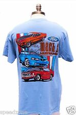 MUSTANG MACH 1 BLUE 2 SIDED T SHIRT BRAND NEW AND SOLD EXCLUSIVELY HERE