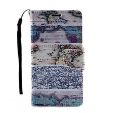 Explore Leather Flip Card Stand Wallet Case Cover For LG G4 Stylus/G Stylo/LS770