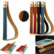 Black/Brown Genuine Leather Case Sleeve Pouch Bag Skin For Apple iPad Pro Pencil