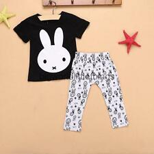 2pcs Newborn Baby Boys RABBIT Outfit T-shirt Tops +Pants Leggings Clothes 0-24M